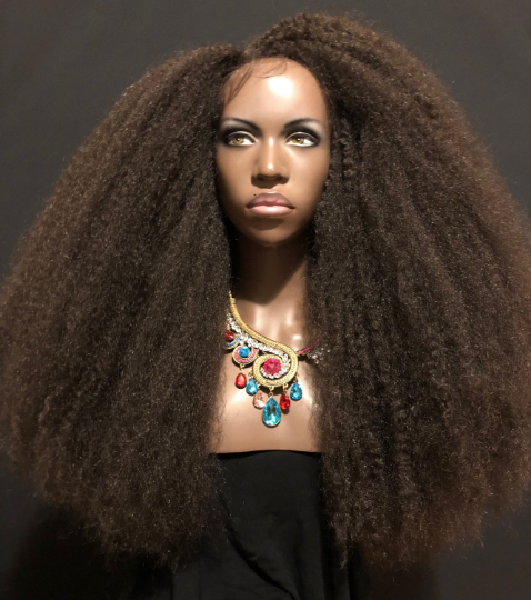 Essence Wigs Hatshepsut Kinks Super Long & Full Voluminous Lace Front Wig African Queens Collection