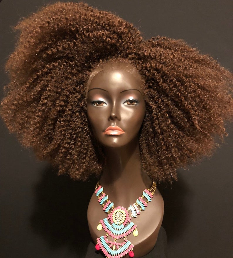 Braid Out Afro 'Asantewaa' Unit Lace Front Wig By Essence Wigs