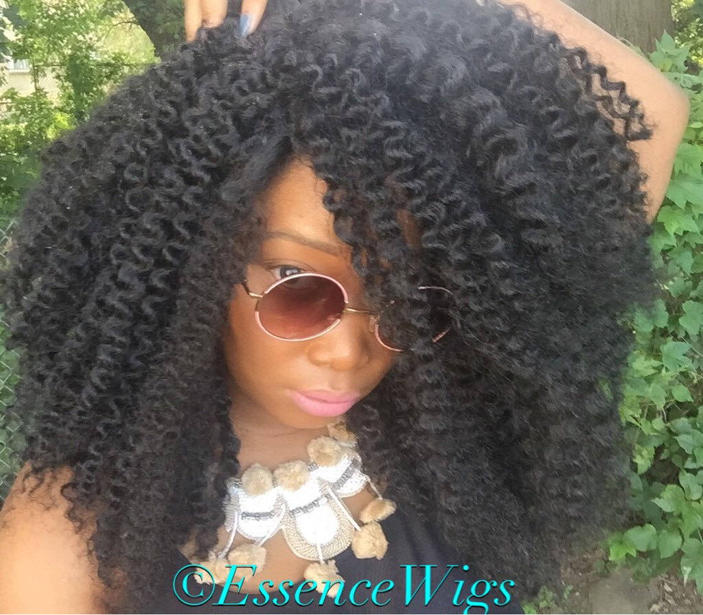 Kinky Wave Original Twist Out Wig Parting Non Lace Wig