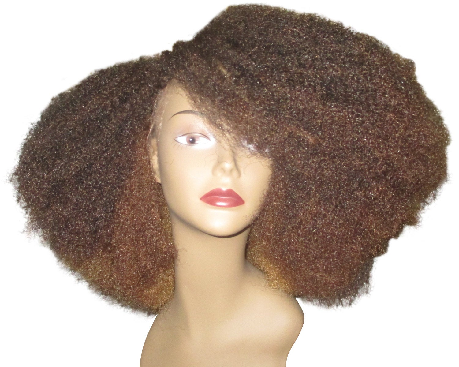 Essence Wigs Gorgeous Caramel Honey Brown Brulee Lace front Wig Layered Bohemian Vibe Afro Wig Kink Blow Out Hair