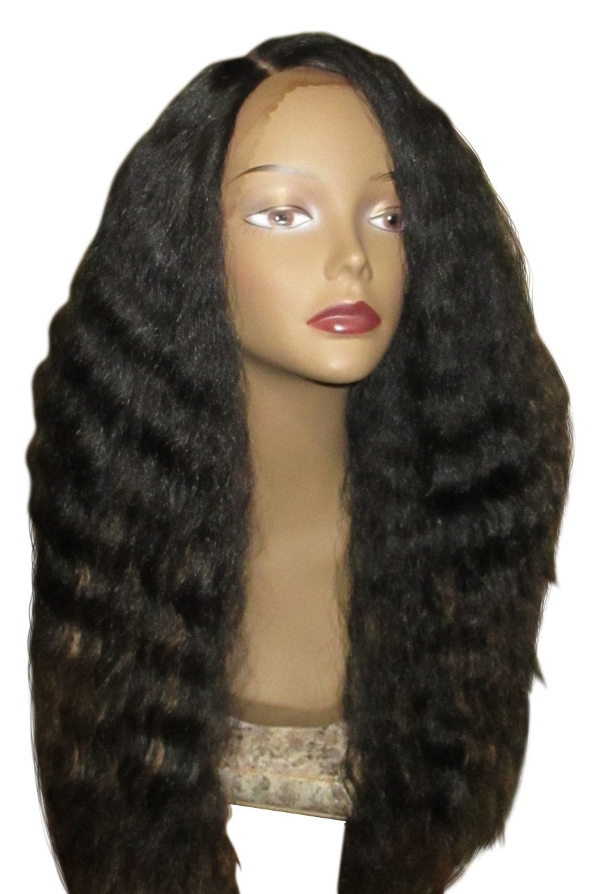 Essence Wigs SuperStar Dark Brown Dirty blonde highlights Blowout Lace front Long Wig Wavy Natural Hair Lace Wig Unit 4b 4c 4a 24inch