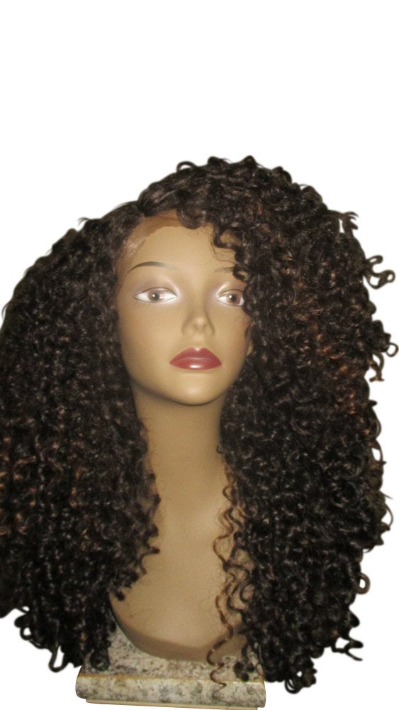 Essence Wigs The 'DIANA ROSS' Brown Highlights Lace front Wig Full Cap Unit