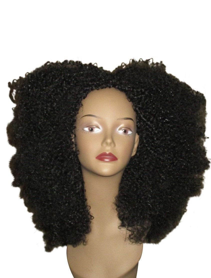 Essence Wigs Amazing Black Natural Hair VA VA Voom Afro kinky Curly Wig Unit