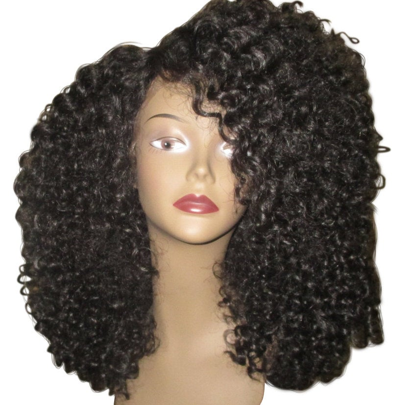 Essence Wigs The 'DIANA ROSS' Lace Wig (shorter) Black Full Cap Unit Curly