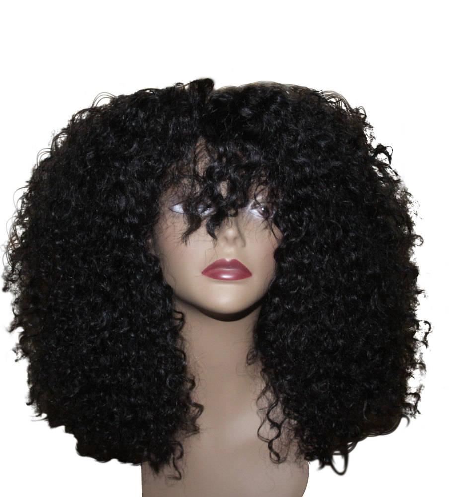 Essence Wigs 100% Indian Remy Human Hair Black Wig Natural Hair kinky Curly Afro Wig Unit