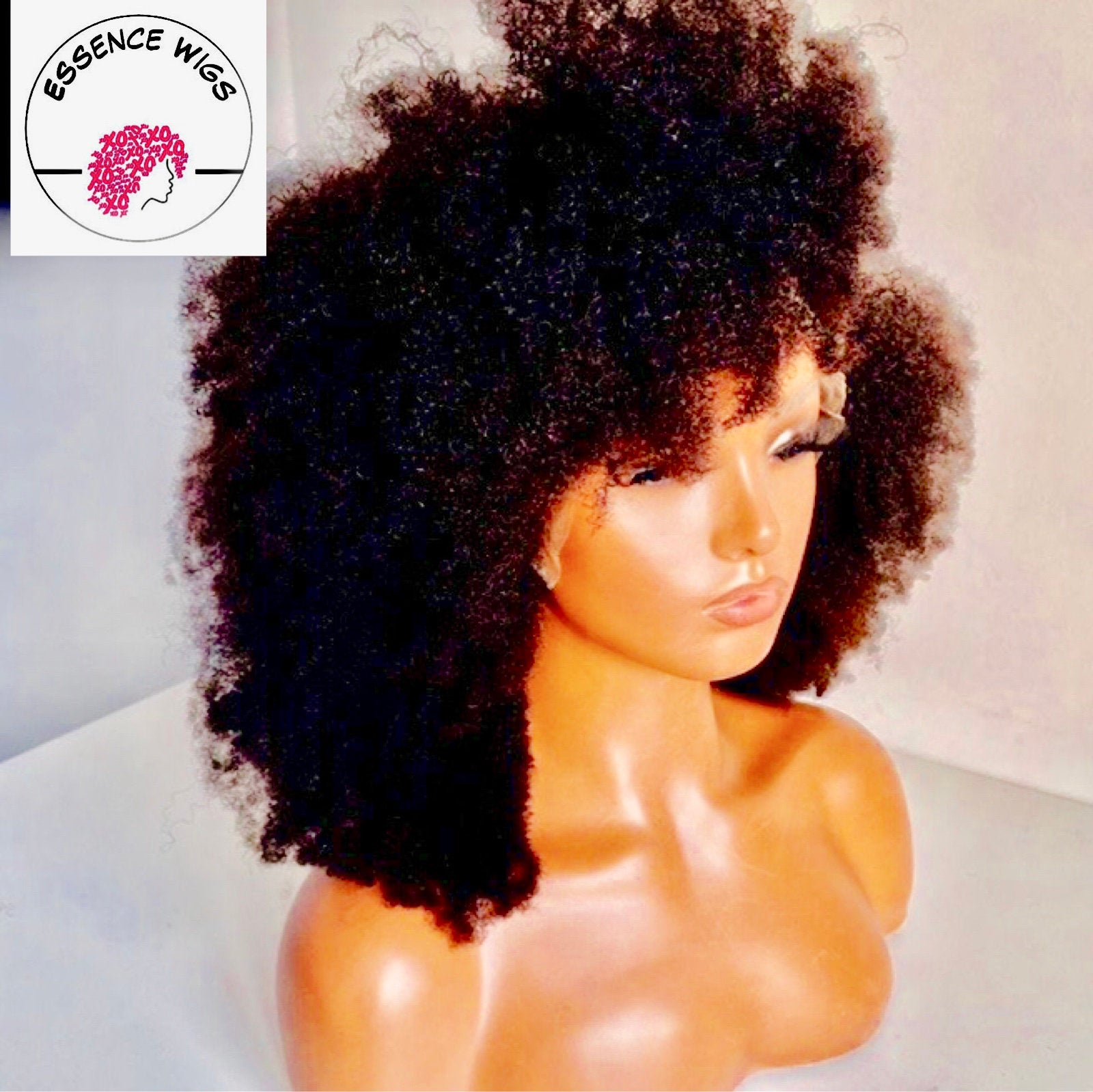 Glam Fro Afro 100% Human Hair Lace Wig Unit 4c 4b by Essence Wigs
