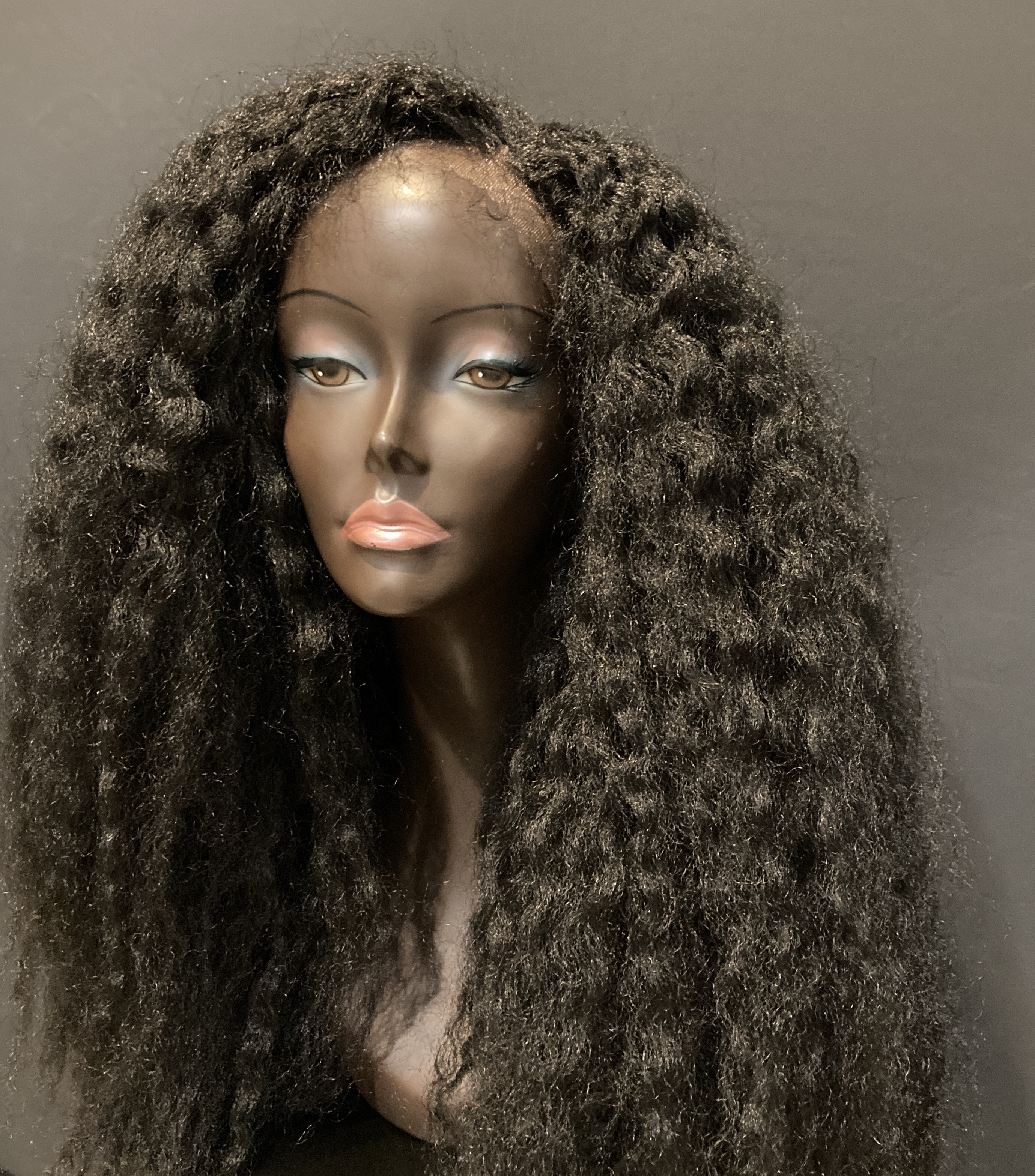 Essence Wigs Nyabinghi Long Voluminous Black Kinky Lace Front Wig African Queens Collection