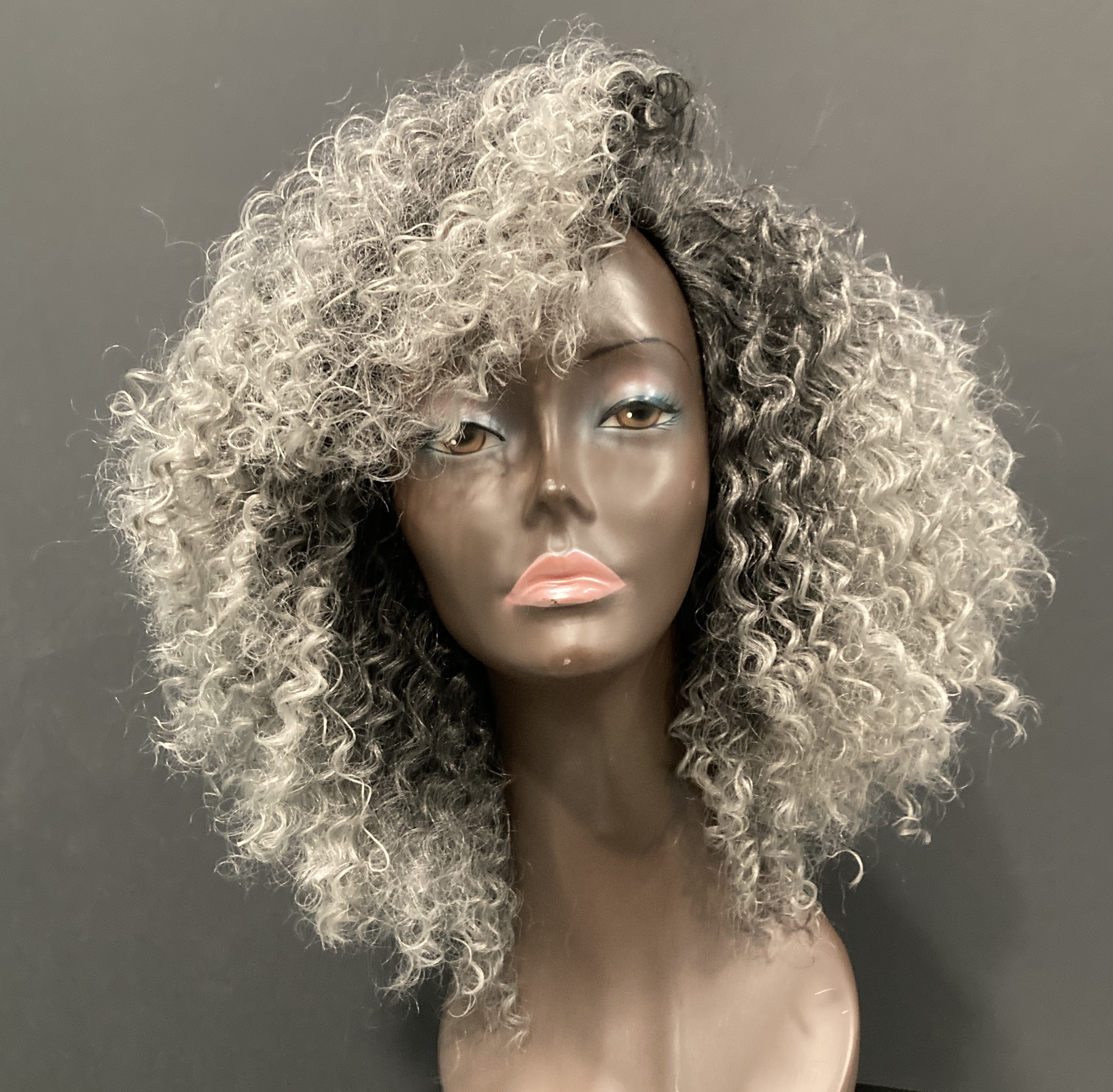 Essence Wigs Gray Whirly Curly Wig Unit