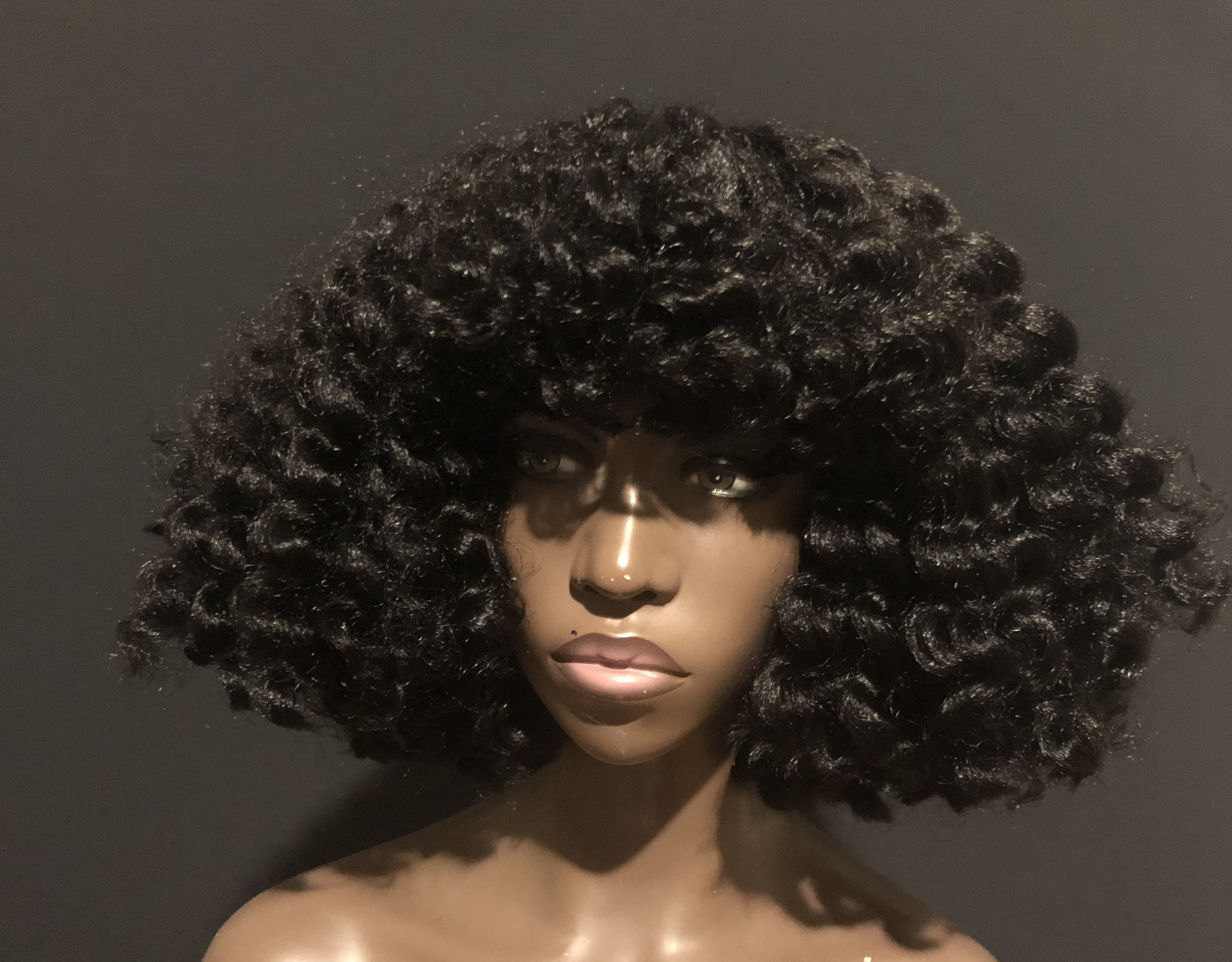 Essence Wigs 'Candace II' Twist out Natural Hair Crochet Wig Textured Hair Wig (Shorter) 4a 4B