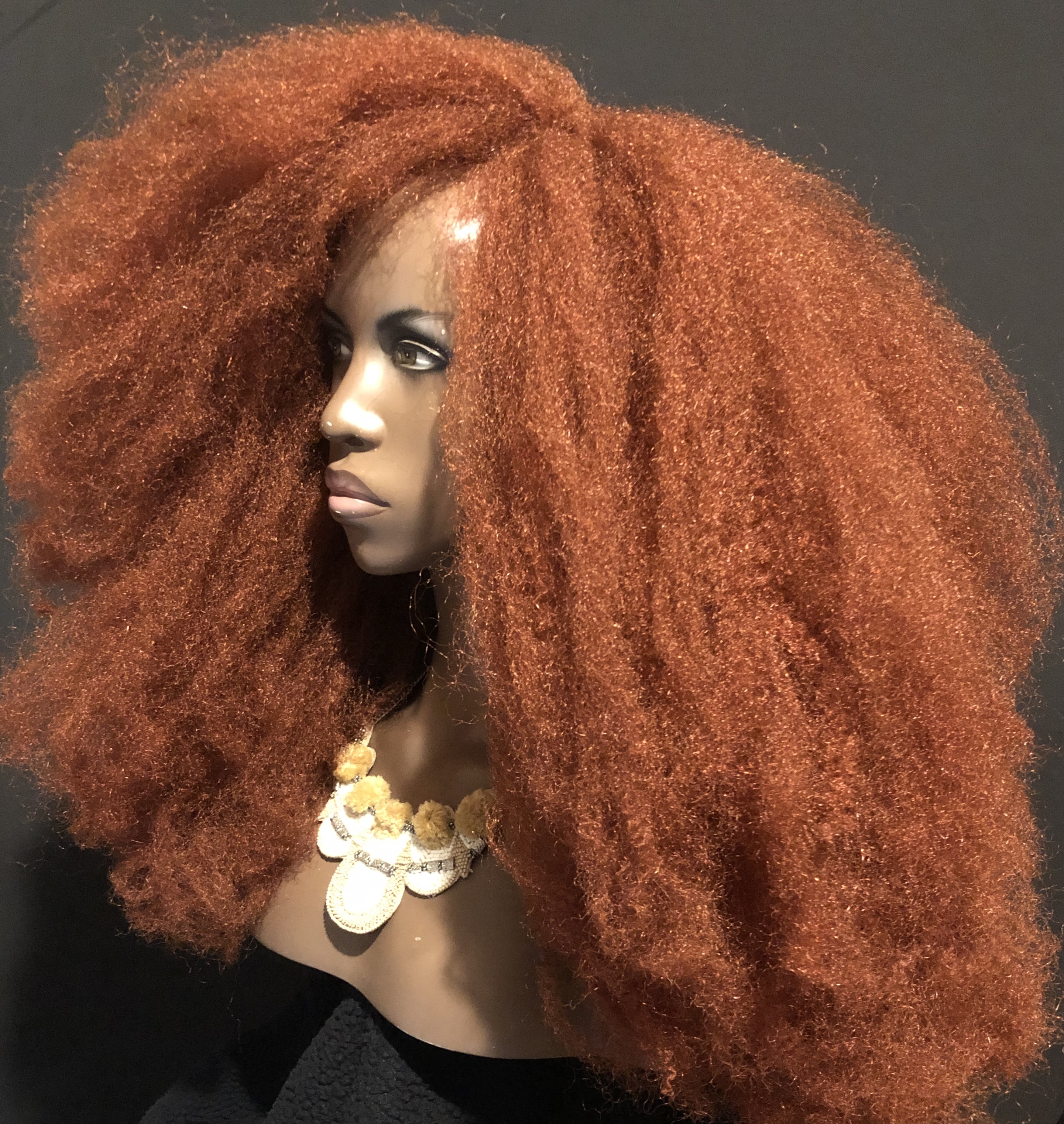 Copper-fect Kinks (Long Length) Copper Afro Kinky Wig Natural Hair Type 4
