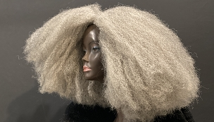Essence Wigs Gray 'Isetnofret' Bohemian Vibe Afro Crochet Wig Unit Full Cap African Queens Collection