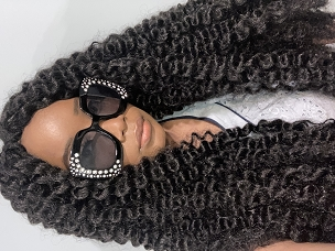 African Water Wave Twist Out Crochet Wig Unit Black Wig