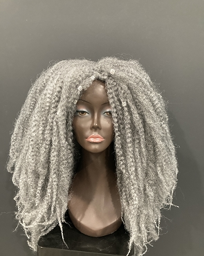 Essence Wigs Rasta Barbie 4C Salt N Pepper Gray Natural Hair Wig