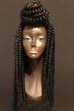 Essence Wigs Island Twists Long Black Non Lace Wig Unit