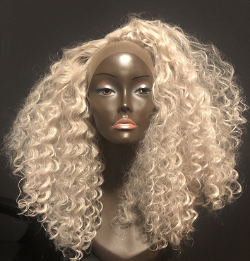 Essence Wigs GRAY Big Hair Curly Lace Front Wig