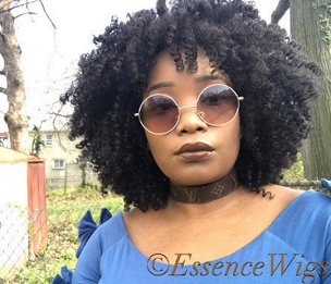 Essence Wigs 'Curlz N Kinkz' Black Natural Hair Wig Lace Wig Unit