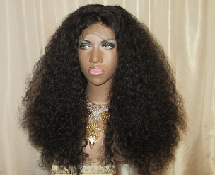 Essence Wigs 'GLAM CURLS' 360 Lace Wig 100% Brazilian Remy Human Hair Black Kinky Curly Full Lace Wig Unit
