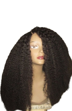 Essence Wigs The 'Cree' Lace front Wig 100% Brazilian Remy Human Hair Black Natural Black Wig Afro Kinky Curly Full Lace Wig Unit