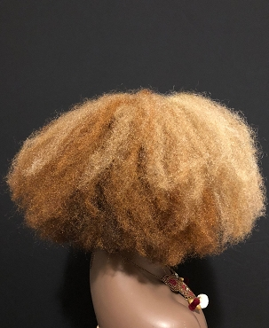 Blonde Afro Wig Lace front 'Free' Boho Vibe Kinky Hair Unit Full Cap By Essence Wigs