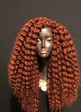 Copper Kinky Tendrils Wig By Essence Wigs