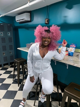 Pink Curlz n Swirlz Kinky Curly Hair Wig Unit As seen on Cupcakke