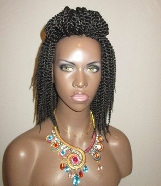 Essence Wigs Mini Twists Crochet Wig Dark Brown Black Natural Hair Two Strand Twist Unit
