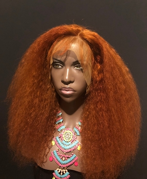 The 'Cree' in COPPER Lace front Wig 100% Brazilian Remy Human Hair by Essence Wigs