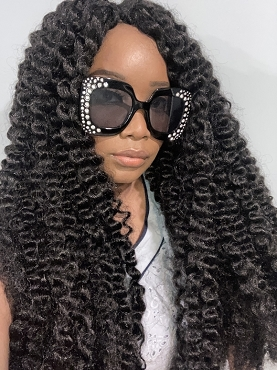 Essence Wigs African Water Wave Twist Out Crochet Wig Unit Black Wig
