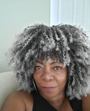 Essence Wigs Salt Pepper Gray Rasta Twist Afro Wig Full Cap Natural Hair Type 4c