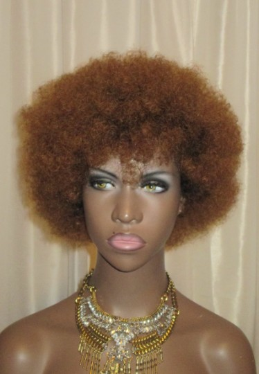Essence Wigs 'Baby Bee Fro' 100% Remy Human Hair Honey Blond Wig Kinky Afro Wig Unit 4b 4a TWA