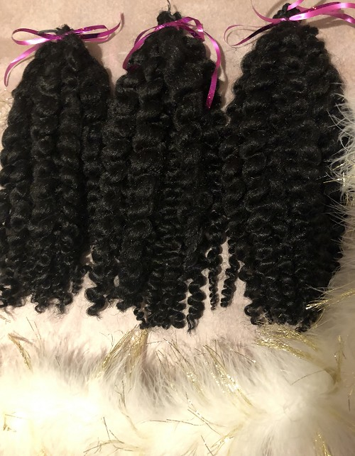 Pre-styled Twist Out Natural Hair Kinky Bundles for Crochet Installation